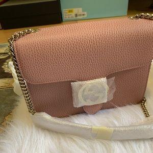 Auth. Gucci interlocking Crossbody bag with chain